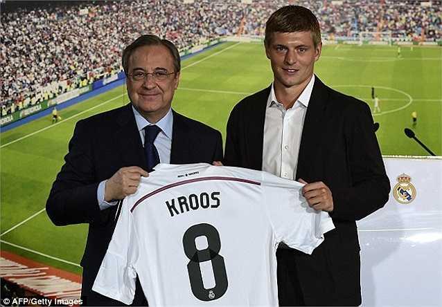 Đội hình dự bị cũng 'khủng' không kém với những cái tên như Toni Kroos (Từ Bayern Munich sang Real, 20 triệu bảng)