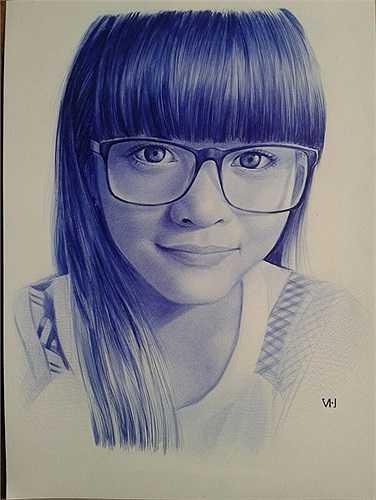 Bức tranh Quang Vinh vẽ tặng bạn gái.