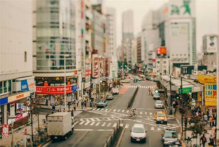 Những con phố bị biến thành tí hon