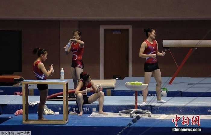 Chỉ còn 2 tuần nữa là diễn ra Đại hội Thể thao Châu Á 2014 nên vận động viên Triều Tiên nỗ lực hết sức