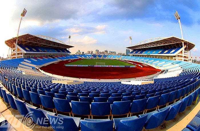 Sân Mỹ Đình được chuẩn bị kỹ lưỡng cho các trận đấu của giải U19 Đông Nam Á
