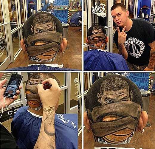 Mỗi kiểu đầu anh tạo ra đều không khác nào một tác phẩm nghệ thuật.