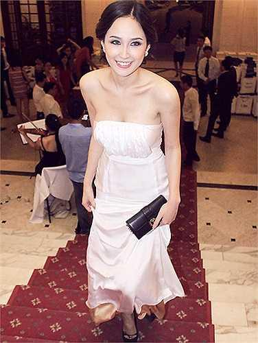 Dù tuyên bố rút lui khỏi showbiz, nhưng ở mỗi sự kiện Mai Phương Thúy tham dự, hoa hậu luôn rạng rỡ xinh đẹp.