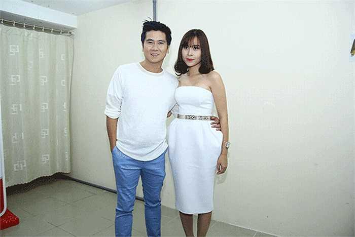 Lưu Hương Giang và Hồ Hoài Anh xuất hiện khá giản dị, nhưng tinh tế và sang trọng.