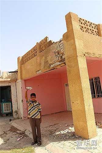 Một ngôi nhà bị phá hủy bởi các phần tử Nhà nước Hồi giáo IS
