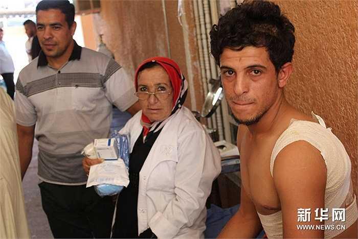 Những binh sỹ Iraq bị thương trong cuộc chiến với IS