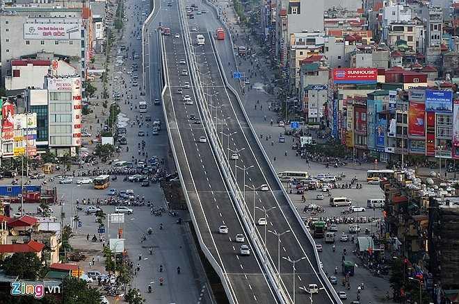 Kể từ khi khánh thành công trình đã giúp cho giao thông Hà Nội mang một bộ mặt hoàn toàn mới mẻ. Các phương tiện di chuyển từ phía tây sang phía đông, nam thành phố và ngược lại mà không phải xuyên qua nội đô, đồng thời giảm tải cho tuyến vành đai 3 phía dưới.