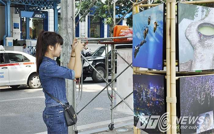 Nhiều bạn trẻ ghi lại khoảnh khắc đặc biệt của thủ đô Hà Nội
