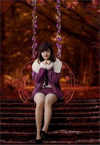 Nhung từng tham gia cuộc thi 'Gương mặt nữ sinh được yêu thích nhất Đại học Kiến trúc năm 2013' và giành giải 3.