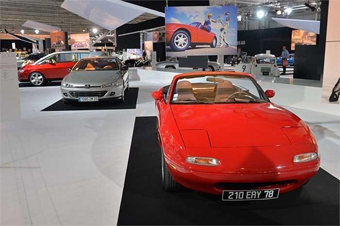 Hùng hậu nhất là những chiếc xe Pháp đến từ các hãng Peugeot, Citroen, Renault. Điều thú vị là đằng sau mỗi chiếc xe lại xuất hiện một tấm phông nền phản ánh một giai đoạn của ngành thời trang cùng thời với sự ra đời của chiếc xe.