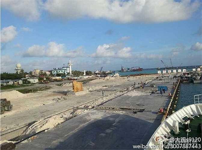 Cận cảnh công trình đường băng mà Trung Quốc xây dựng trái phép trên đảo Phú Lâm của Việt Nam