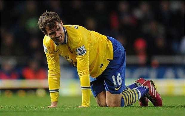 Aaron Ramsey cũng từng phải chịu chung số phận với Eduardo. Rất may cho tiền vệ người xứ Wales khi sự nghiệp của anh chỉ bị gián đoạn một thời gian