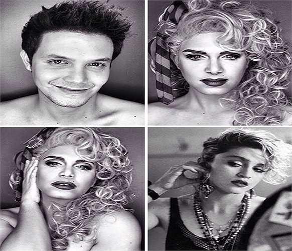 Những hình ảnh này nhanh chóng thu hút được sự chú ý của đông đảo các bạn trẻ. Đây là hình ảnh của nữ ca sĩ Madonna
