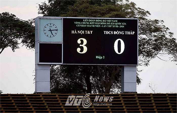Tỷ số đậm đà dành cho đội bóng Thủ đô (Ảnh: Quang Minh)