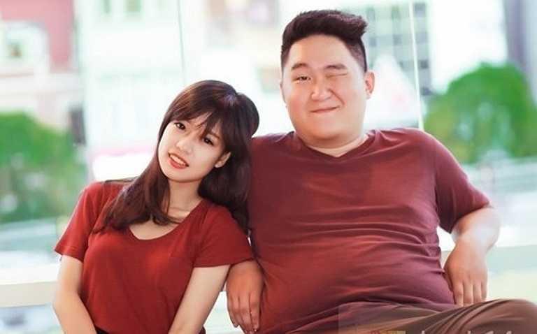 Cặp đôi đuã lệch Trần Khánh Thiện và Nguyễn Tú Linh là cặp đôi khác nhau về cân nặng. Chàng trai khổng lồ với cân nặng 100kg và nàng nhỏ nhắn chỉ gần 40kg.