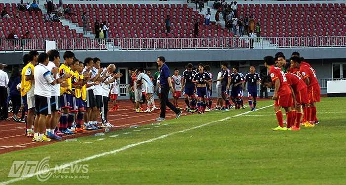 U19 Việt Nam xứng đáng với những tràng vỗ tay từ phía U19 Nhật Bản