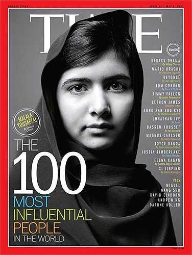 Yousafzai được tạp chí Time xếp vào danh sách 100 người có tầm ảnh hưởng thế giới năm 2013