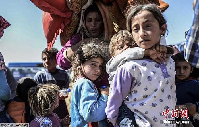 Những đứa trẻ nhếch nhác trong hành trình chạy trốn IS