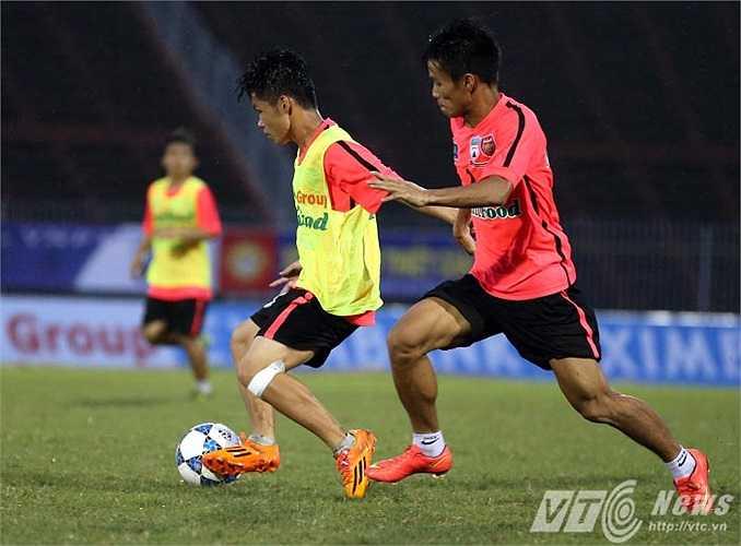 Sự hứng khởi, hiệu quả là nét chính trong buổi tập trước trận ra quân của U19 HAGL Arsenal JMG (Ảnh: Quang Minh)