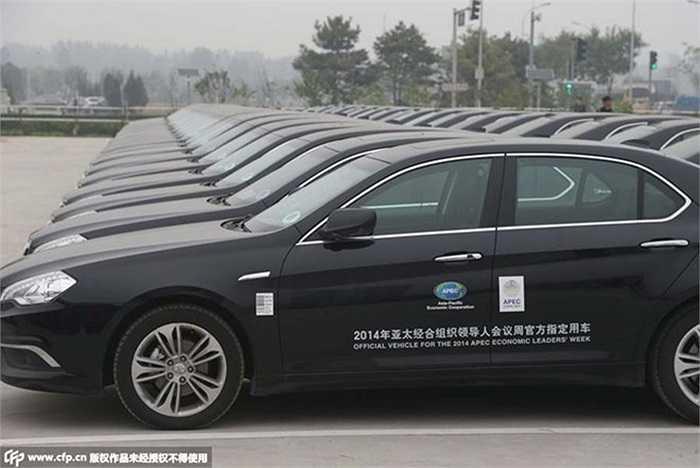 Ngoài xe Hồng kỳ cho lễ đón chính thức, những chiếc xe nội địa Trung Quốc này sẽ là phương tiện chuyên chở chính thức dành cho các nguyên thủ và lãnh đạo cấp cao dự sự kiện vào đầu tháng 11/2014 ở Bắc Kinh.