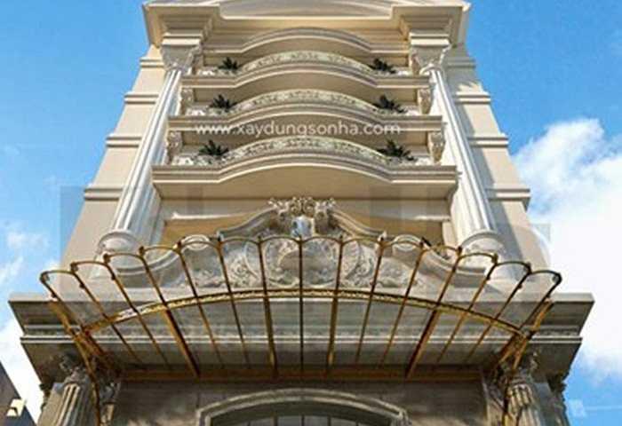 Mặt sàn khách sạn có diện tích 375m2, cao 17 tầng. Không gian nội thất sảnh tầng 1 rộng rãi, thoáng và có góc view lớn từ sảnh ra ngoài. Gam màu vàng vương giả thể hiện sự trang trọng và độc đáo của kiến trúc Pháp trong từng chi tiết của công trình khách sạn.