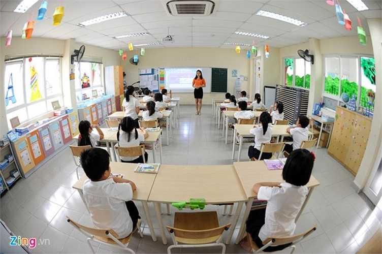 Cận cảnh một lớp thuộc bậc tiểu học của nhà trường.