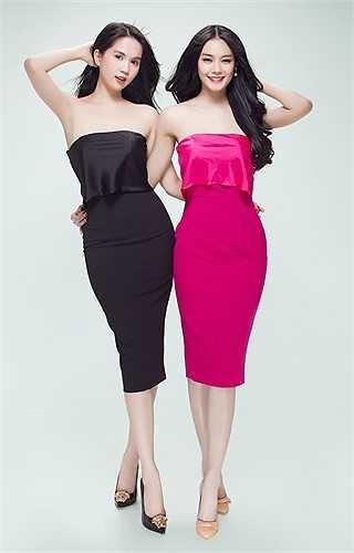 Ngọc Trinh cùng người em thân thiết Linh Chi thực hiện bộ ảnh chị em sinh đôi ấn tượng.