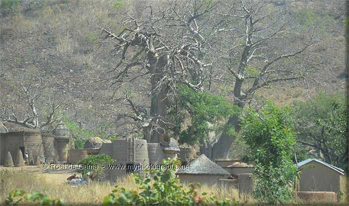 Những ngôi nhà hình những quả mấm là nơi sinh sống của bộ tộc có tên Taberma, sống tách biệt với thế giới hiện đại.