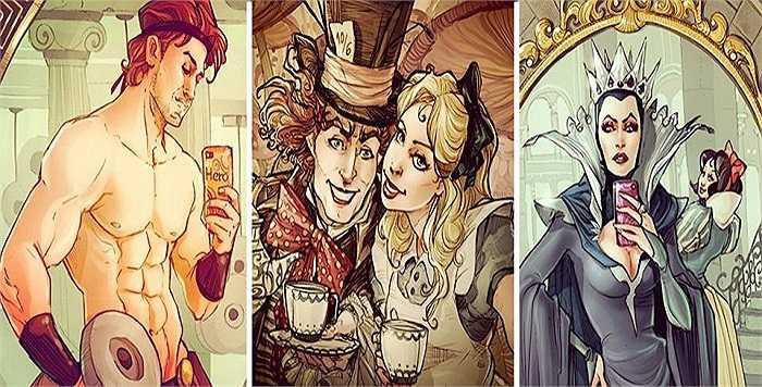 Bắt nguồn từ trào lưu tự sướng của giới trẻ, Simona Bonafini quyết đinh tạo ra những hình ảnh tương tự cho các nhân vật Disney mà cô yêu thích.