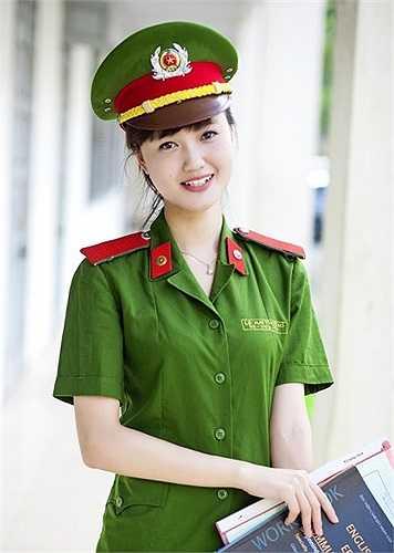Ma Thương từng giành giải xuất sắc cuộc thi Cảnh sát thanh lịch 2013.