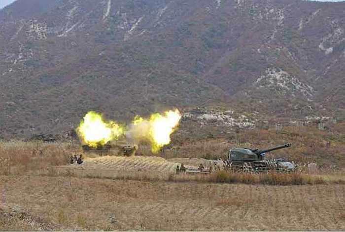 Một cảnh huấn luyện chiến đấu của quân đội Triều Tiên
