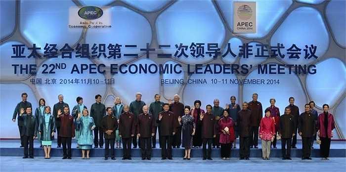 Năm nay, APEC được tổ chức tại Bắc Kinh, Trung Quốc với các trang phục mang đường nét truyền thống của quốc gia này