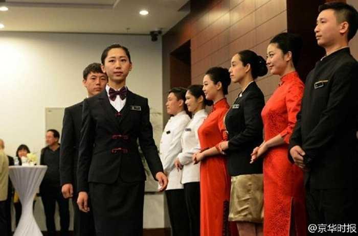 Đội lễ tân nữ phục vụ Hội nghị cấp cao APEC 2014 ở Trung Quốc