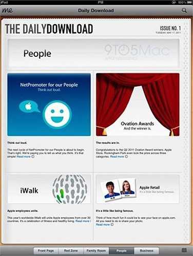 Daily Download: Là ứng dụng hiển thị những thông tin nội bộ của Apple.