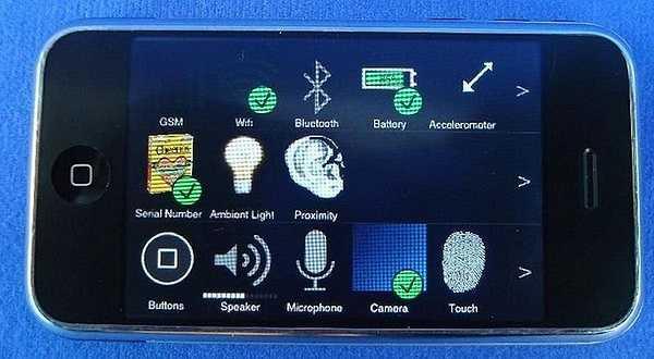 Operator: Ứng dụng dùng để kiểm tra các thành phần như loa, nút home, cảm biến ... của các thiết bị iOS.