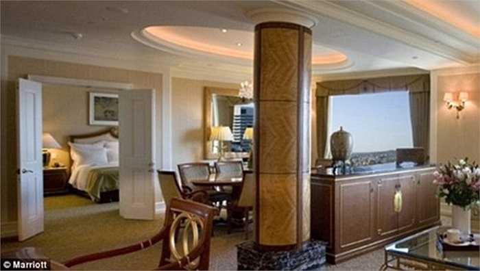 Căn phòng mà Tổng thống Obama sẽ nghỉ ngơi có giá thuê 1.370 bảng Anh/ngày (hơn 46 triệu đồng).