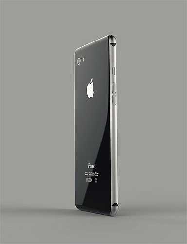 Theo ý tưởng thiết kế, mặt sau máy sẽ được bọc bởi lớp kính nhằm tăng vẻ đẹp và sự sang trọng theo truyền thống của Apple.