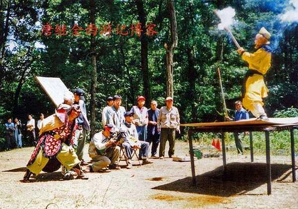 Các màn thi triển võ nghệ đều khá thô sơ, các bước nhảy được thực hiện từ trên các bục cao bố trí sẵn.