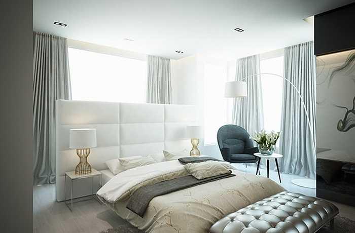 Phòng ngủ cũng được bày trí hết sức thoáng, chan hòa với ánh sáng tự nhiên. Nội thất trong phongd ngủ cũng được cô chăm chút và chọn lựa kỹ lưỡng