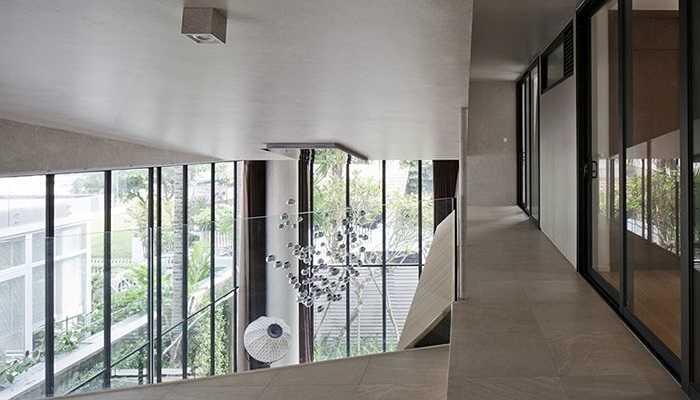 Giải pháp kết cấu đã làm cho biệt thự có những không gian rộng ấn tượng, gọn gàng hiện đại mà vẫn vững chắc.