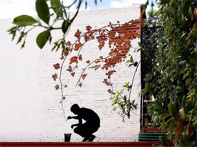 Bức tranh này được vẽ tại một con đường của thành phố Madrid (Tây Ban Nha)