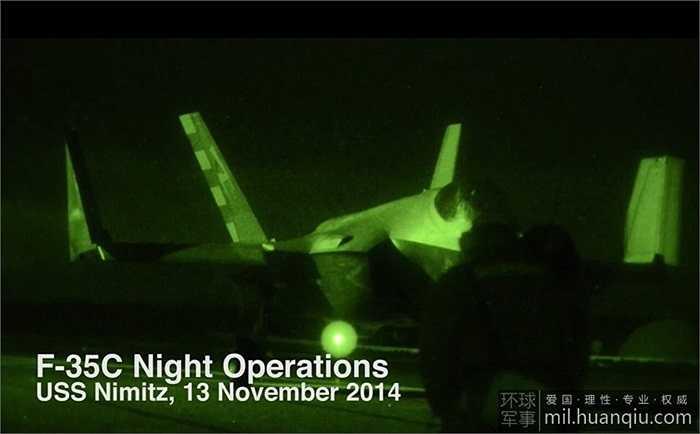 Cận cảnh chiến đấu cơ F-35C cất hạ cánh trong đêm