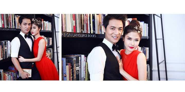 Bà xã Đăng Khôi rất biết cách chăm chút hình ảnh của cả hai vợ chồng.