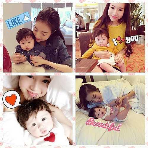 Elly Trần lúc nào cũng quấn quýt bên cô công chúa nhỏ.