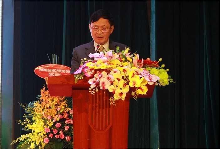 PGS.TS Phạm Đình Phùng - hiệu trưởng ĐH Đông Đô ôn lại những kỷ niệm dưới mái trường này và đề ra chiến lược phát triển trong thời gian tới