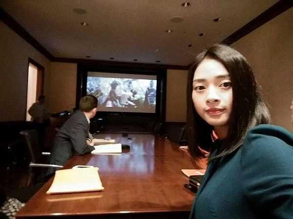 Ngô Thanh Vân đang có chuyến công tác tại Mỹ.