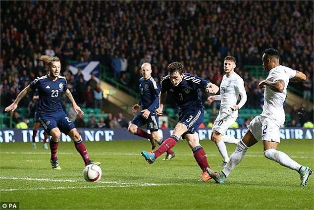 Bàn thắng duy nhất của Scotland được ghi do công của Andrew Robertson ở phút 83.