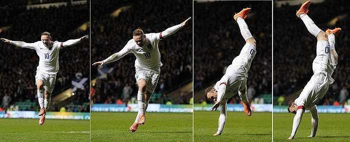 Với cú đúp trong trận đấu này, Rooney chỉ còn cách kỉ lục ghi bàn nhiều nhất cho Đội tuyển Anh của Sir Bobby Charlton 3 bàn.