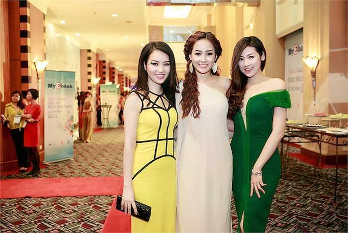 Ba người đẹp của cuộc thi Hoa hậu Việt Nam.  (Trung Ngạn)