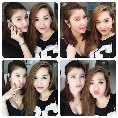 Hạnh Sino và Emily đã có tình bạn đẹp hơn 5 năm trong cả công việc lẫn cuộc sống. Hình ảnh được Emily đăng tải lên Facebook cá nhân của Hạnh trong ngày sinh nhật hot girl.